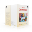 Náhled tištěného certifikátu